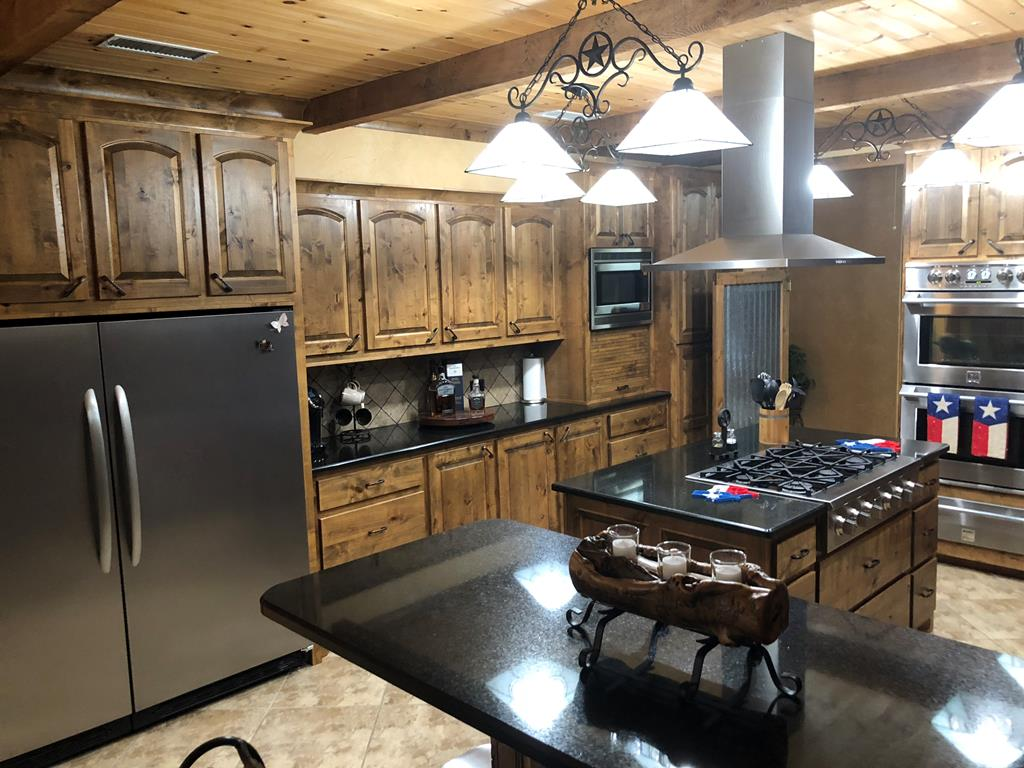 Granite Island and Bar in Kitchen