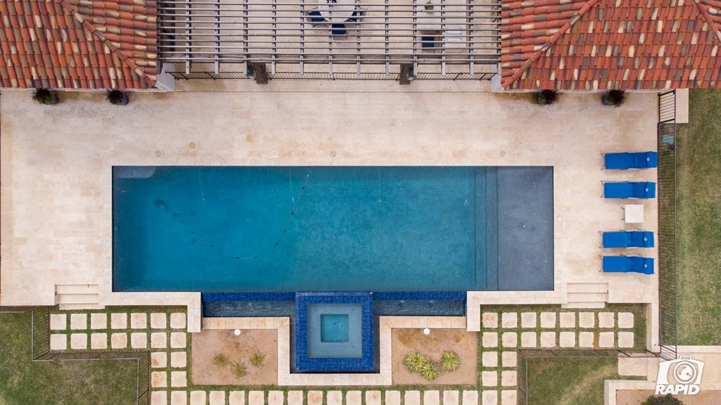 Aerial of Cabana of Pool